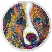 Patches Round Beach Towel