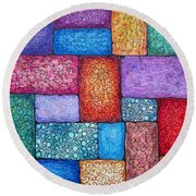 Patchwork Round Beach Towel