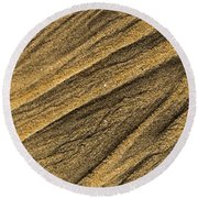 Paterns In The Sand Round Beach Towel
