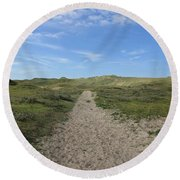 Path In The Noordhollandse Duinreservaat Round Beach Towel