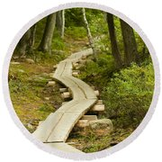 Path Into Unknown Round Beach Towel