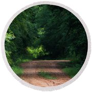 Round Beach Towel featuring the photograph Path Of Light Horizontal by Shelby Young