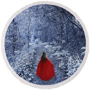 Path Of The Faerie Round Beach Towel
