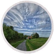 Path Round Beach Towel by Robert Geary