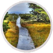 Path To Bliss Round Beach Towel