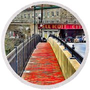 Path To Ellicott City Round Beach Towel
