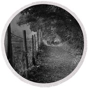 Path To Solitude Round Beach Towel