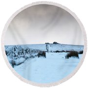 Path To South Hessary Tor II Round Beach Towel