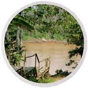 Path To The Amazon River Round Beach Towel