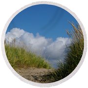 Path To The Beach Round Beach Towel by Jeanette French