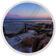 Path To The Beach Round Beach Towel by Tim Kirchoff