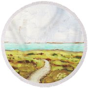 Path To The Sea Round Beach Towel by Clary Sage Moon