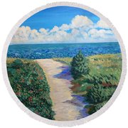 Path To The Sea Round Beach Towel