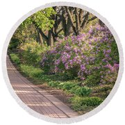Pathway To Beauty In Lombard Round Beach Towel