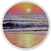Pathway To Dawn - Outer Banks Sunrise Round Beach Towel