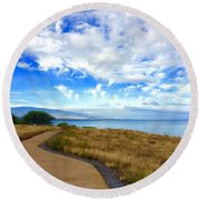 Pathway To Heaven Round Beach Towel