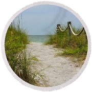 Round Beach Towel featuring the photograph Pathway To The Beach by Carol  Bradley