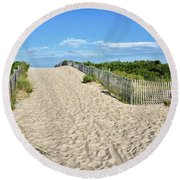 Pathway To The Beach - Delaware Round Beach Towel by Brendan Reals