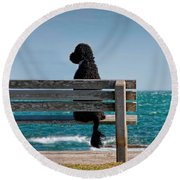 Patient Waiter Round Beach Towel