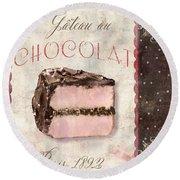 Patisserie Gateau Au Chocolat Round Beach Towel