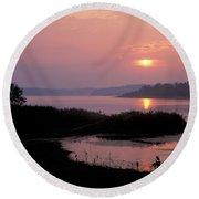 Patoka Lake - Fm000126 Round Beach Towel