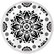 Pattern Art 01-2 Round Beach Towel by Bobbi Freelance