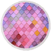 Pattern Round Beach Towel by Happy Home Artistry