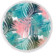 Pattern Jungle Round Beach Towel