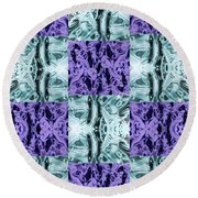 Ultra Violet  And Water  Round Beach Towel