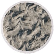 Round Beach Towel featuring the photograph Patterns In Sand 4 by William Selander