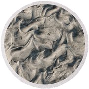 Patterns In Sand 4 Round Beach Towel