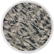 Round Beach Towel featuring the photograph Patterns In Sand 5 by William Selander