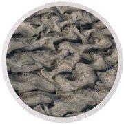 Patterns In Sand 6 Round Beach Towel