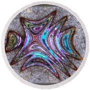 Paua Medallion Round Beach Towel
