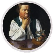 Paul Revere 1770 Round Beach Towel
