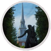 Paul Revere Old North Church Boston Round Beach Towel
