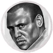 Paul Robeson Round Beach Towel