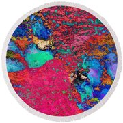 Paw Prints Colour Explosion Round Beach Towel