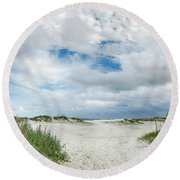 Round Beach Towel featuring the photograph Pawleys Island  by Kathy Baccari