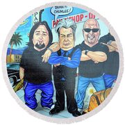 Pawn Stars In Las Vegas Round Beach Towel