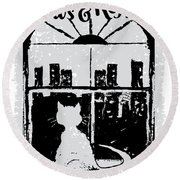 Paws And Reflect Round Beach Towel