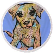 Paws Round Beach Towel