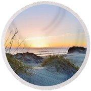 Pea Island Sunrise 12/28/16 Round Beach Towel
