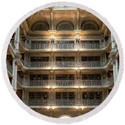 Peabody Library Round Beach Towel