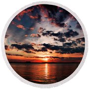 Peace Along The River Round Beach Towel