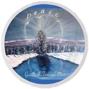 Peace And Goodwill Toward Men With Quote Round Beach Towel