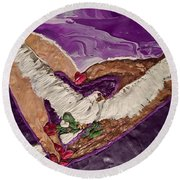 Peace And Love Round Beach Towel