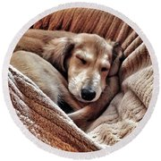 Peace At Last #saluki Round Beach Towel