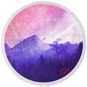 Round Beach Towel featuring the digital art Peace Be Still 2016 by Kathryn Strick