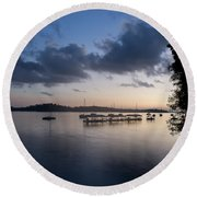 Peace Before Sunrise Round Beach Towel